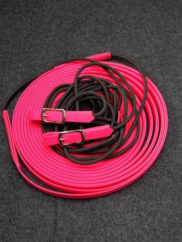 Doppellonge Seil -Biothane magenta