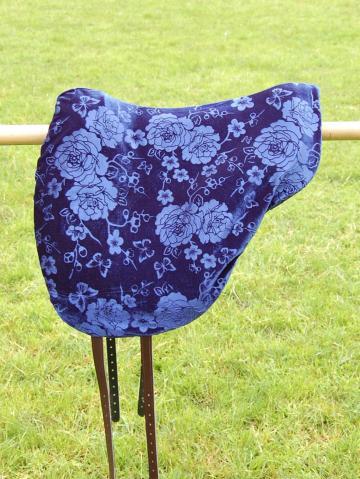 Schonbezug Brockamp Reitpad Samt blau